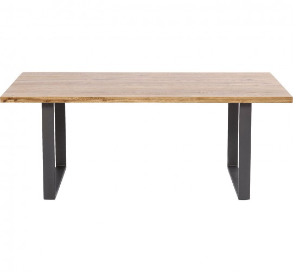 Table Jackie chêne acier 160x80cm Kare Design
