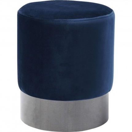 Tabouret James 35cm bleu pétrole Kare Design