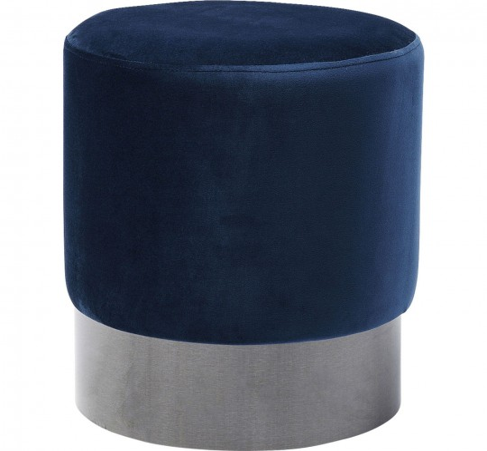 Tabouret James 35cm bleu et noir Kare Design