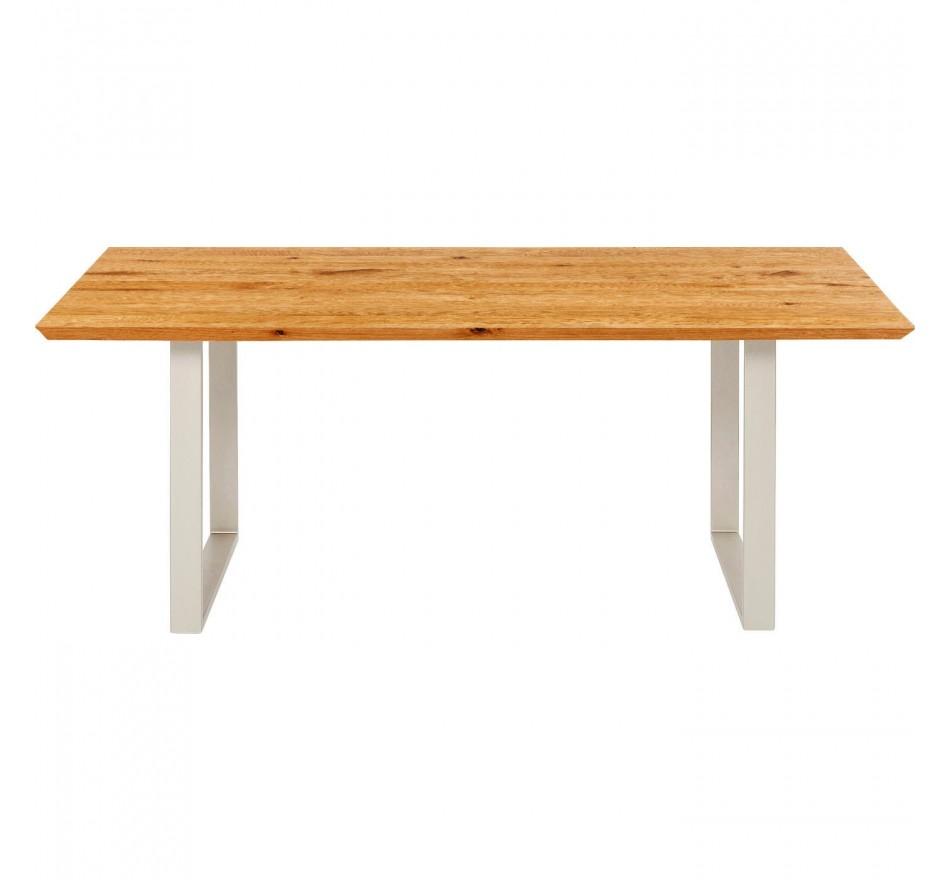 Table Symphony chêne argent 160x80cm Kare Design