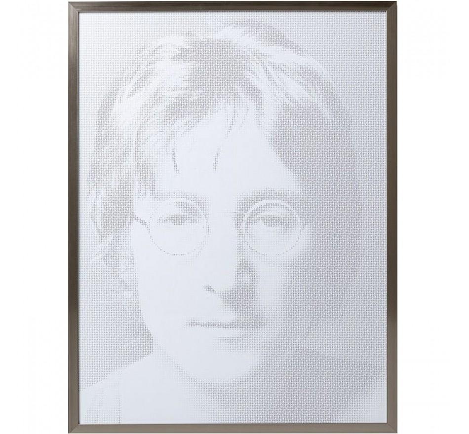 Tableau Frame Idol Pixel John Lennon 104x79cm Kare Design