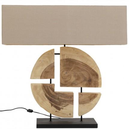 Lampe de table Geometrix marron Kare Design