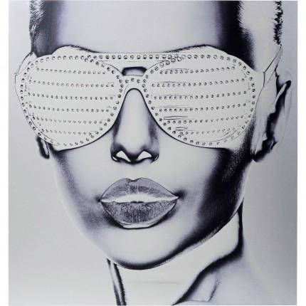 Tableau Alu Cool Girl 120x120cm Kare Design