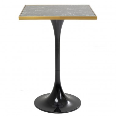 Table de bar San Remo noire carrée 70x70cm Kare Design