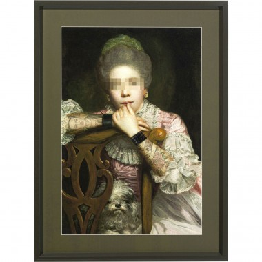 Tableau Frame Incognito Sitting Countess 112x82cm Kare Design