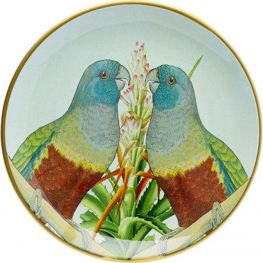 Plat couple perroquets 35cm Kare Design