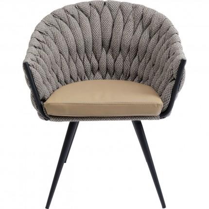Chaise avec accoudoirs Knot marron Kare Design