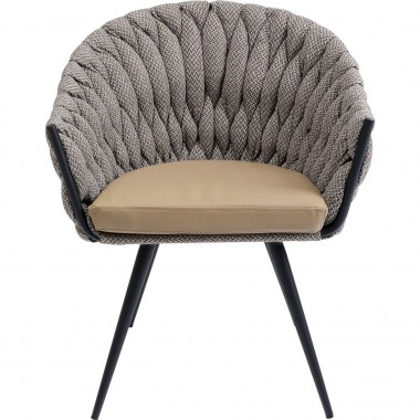 Chaise avec accoudoirs Knot Tweed Kare Design