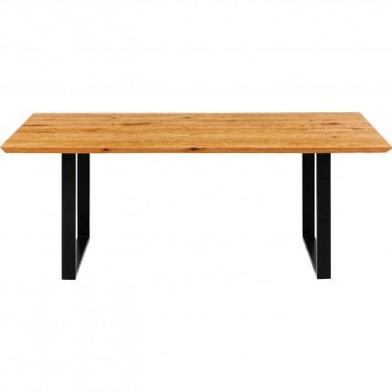 Table Symphony chêne noire 180x90cm Kare Design