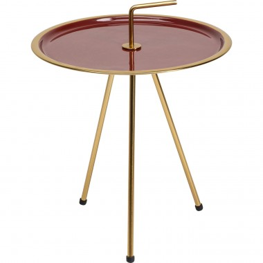 Table d'appoint Miami rouge Kare Design