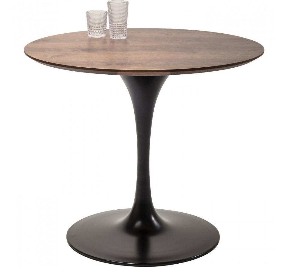 Table Invitation noyer & noir 90cm Kare Design