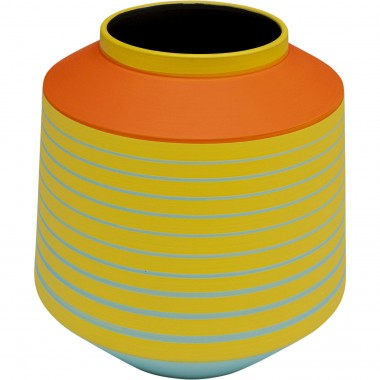 Vase Happy Day jaune 21cm Kare Design