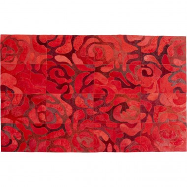 Tapis roses rouges 170x240cm Kare Design