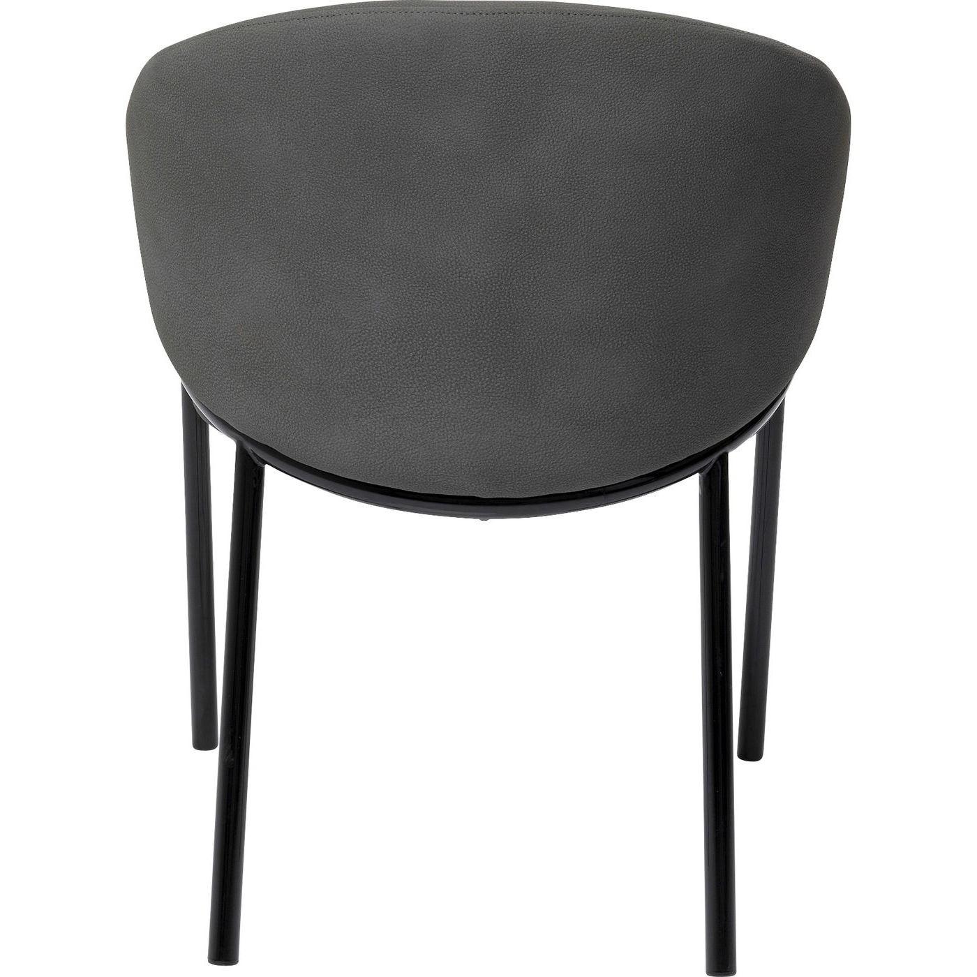 Chaise avec accoudoirs Boulevard grise Kare Design