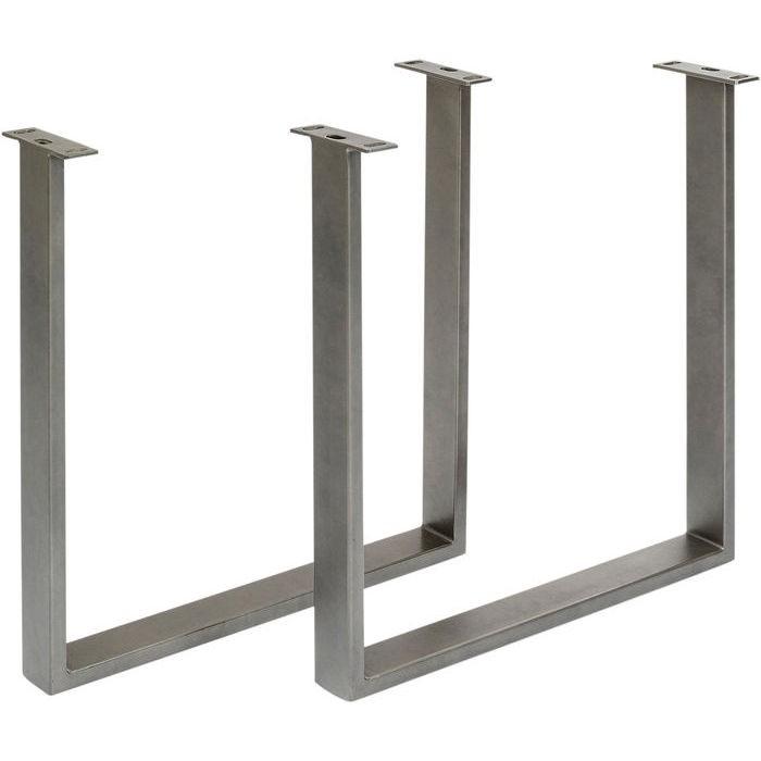 Table Symphony chêne acier 180x90cm Kare Design