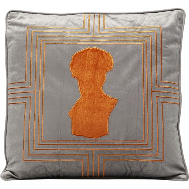 Coussin buste orange 45x45cm Kare Design