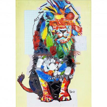 Tableau Touched lion 70x100cm Kare Design