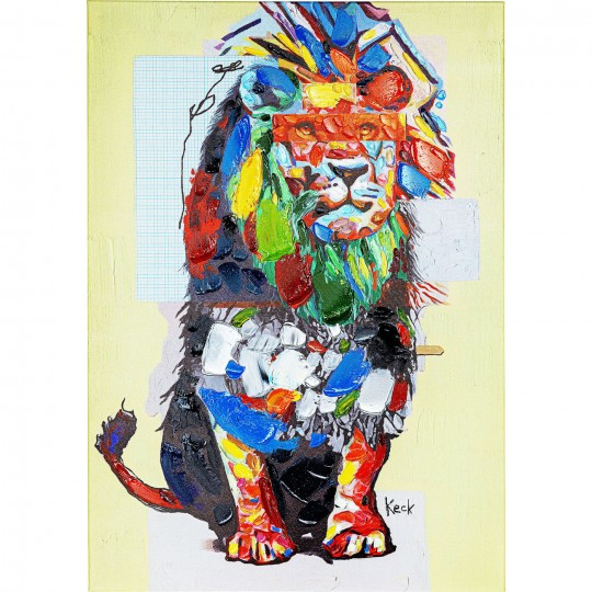 Tableau Touched lion 70x100cm Kare Design