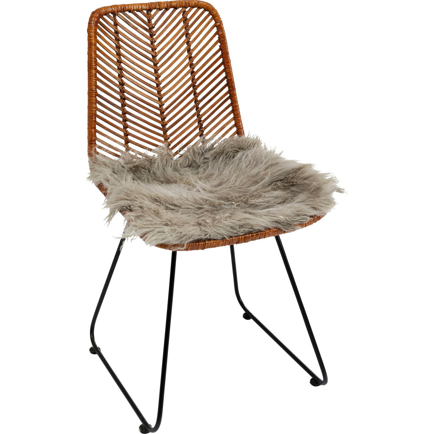 Galette de chaise Heidi grise 40x40cm Kare Design