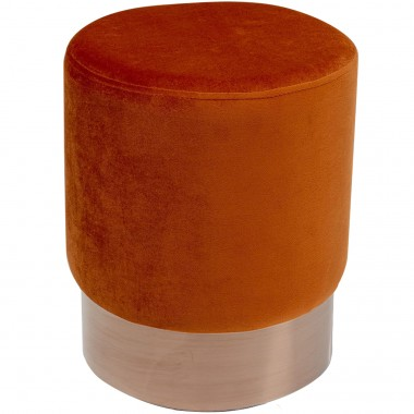 Tabouret Cherry 35cm orange et cuivre Kare Design