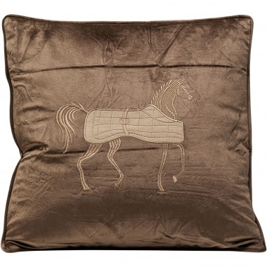 Coussin Cheval marron 45x45cm Kare Design