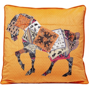 Coussin cheval patchwork 45x45cm Kare Design