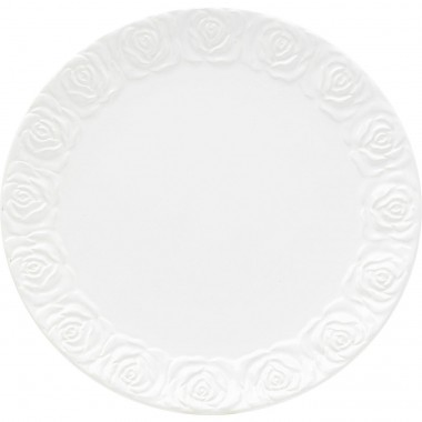 Assiettes Roses blanches 19cm set de 4 Kare Design