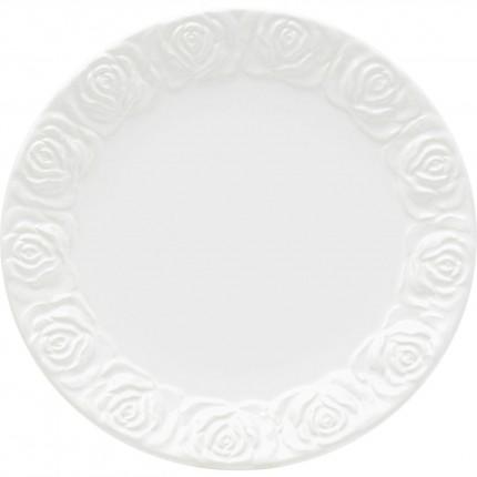Assiettes Roses blanches 25cm set de 4 Kare Design