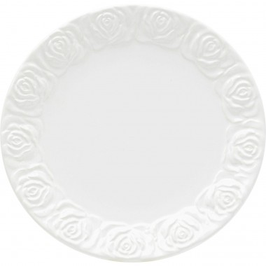 Assiettes Roses blanches 25cm set de 4 Kare Design