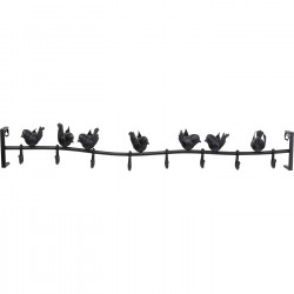 Portemanteau mural oiseaux 95cm Kare Design