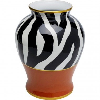 Vase Zebra Ornament orange 38cm Kare Design