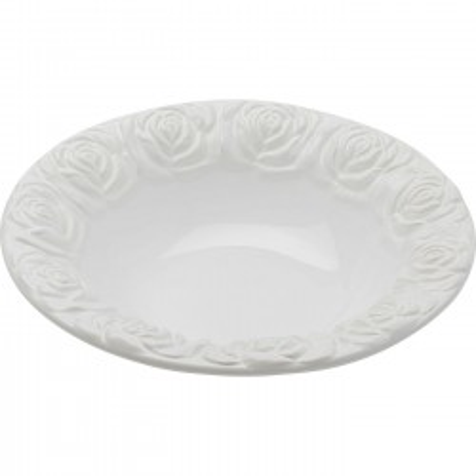Plat creux Roses blanc 28cm Kare Design