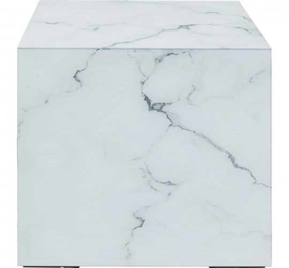 Table d'appoint Luxury effet marbre 45x45cm Kare Design