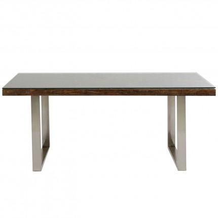 Table Conley pieds chromés 180x90cm Kare Design