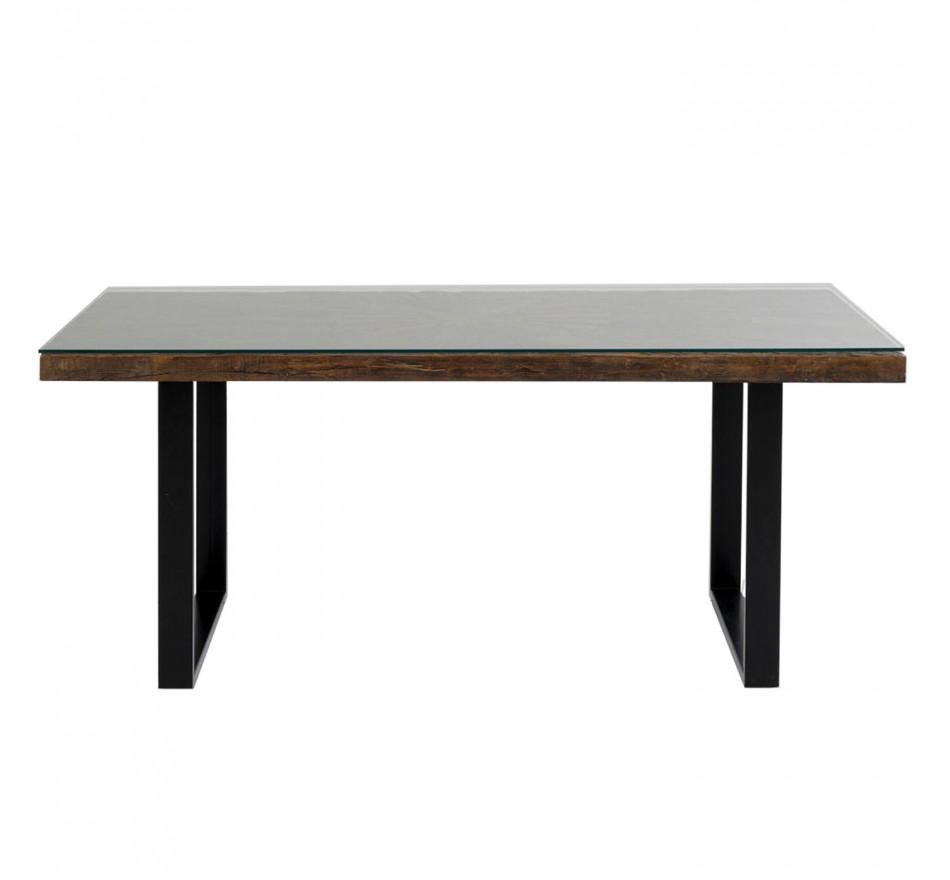 Table Conley pieds noirs 180x90cm Kare Design
