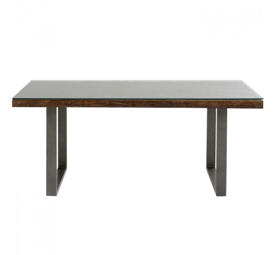 Table Conley pieds acier 180x90cm Kare Design