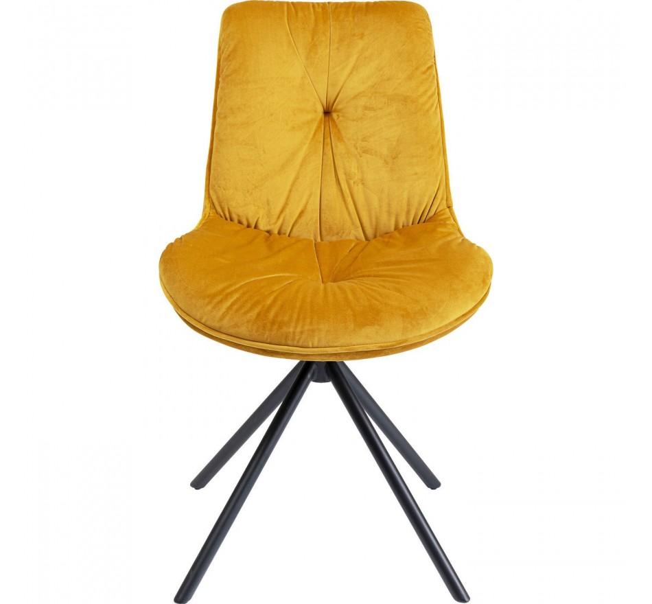 Chaise Mila velours jaune Kare Design
