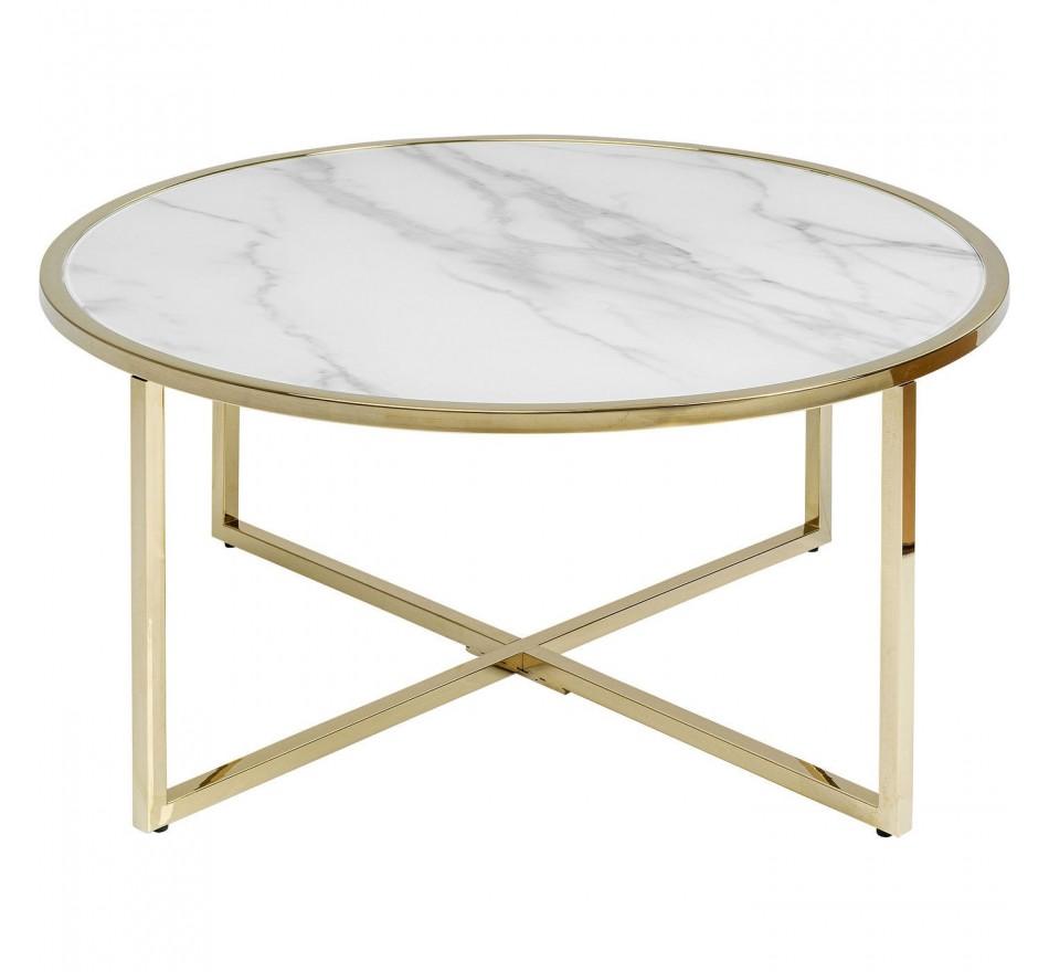 Table basse West Beach laiton Ø80cm Kare Design