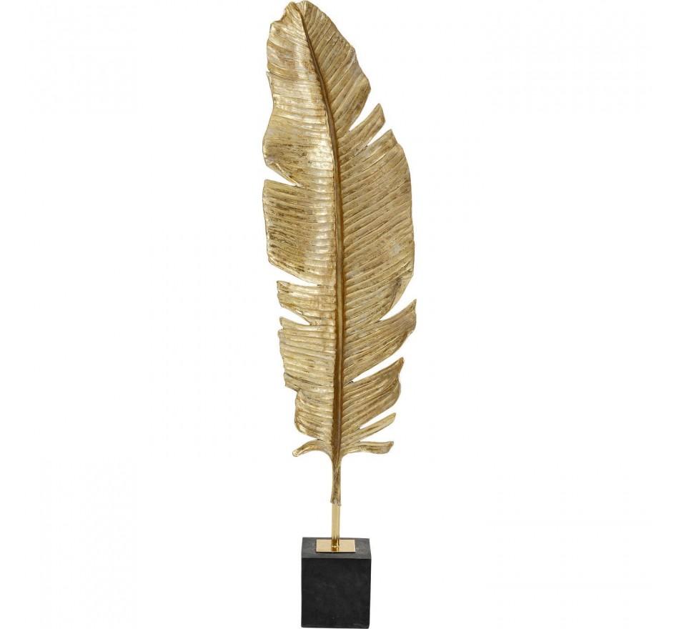 Déco Plume cygne dorée XL 147cm Kare Design