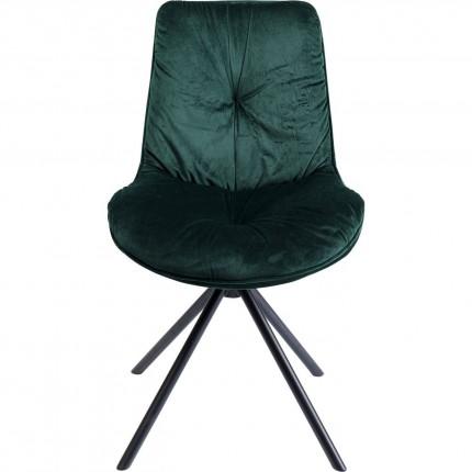 Chaise Mila velours vert Kare Design
