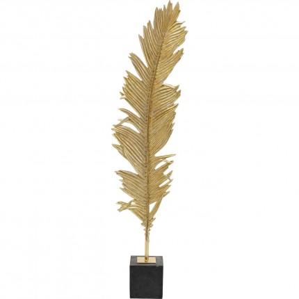 Déco Plume faucon dorée XL 147cm Kare Design