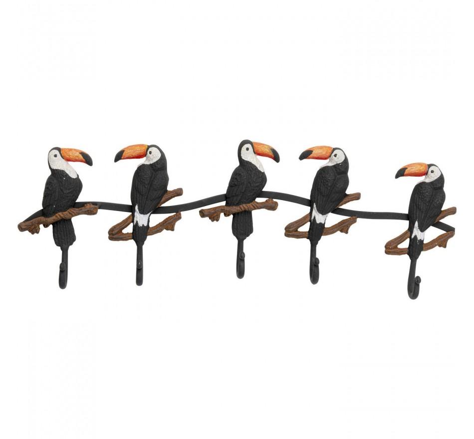 Portemanteau mural toucans 62cm Kare Design