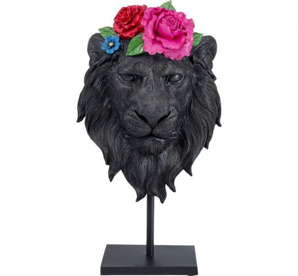 Déco Masque lion fleurs Kare Design