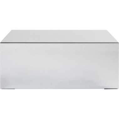 Table basse Luxury 90x50cm argent Kare Design