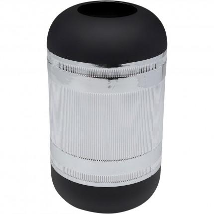 Vase Cap argenté 30cm Kare Design