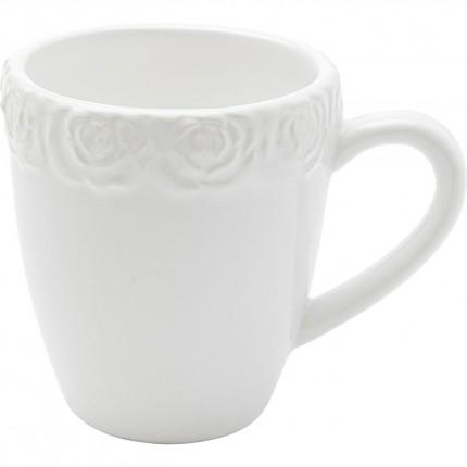 Mugs Roses blancs set de 4 Kare Design