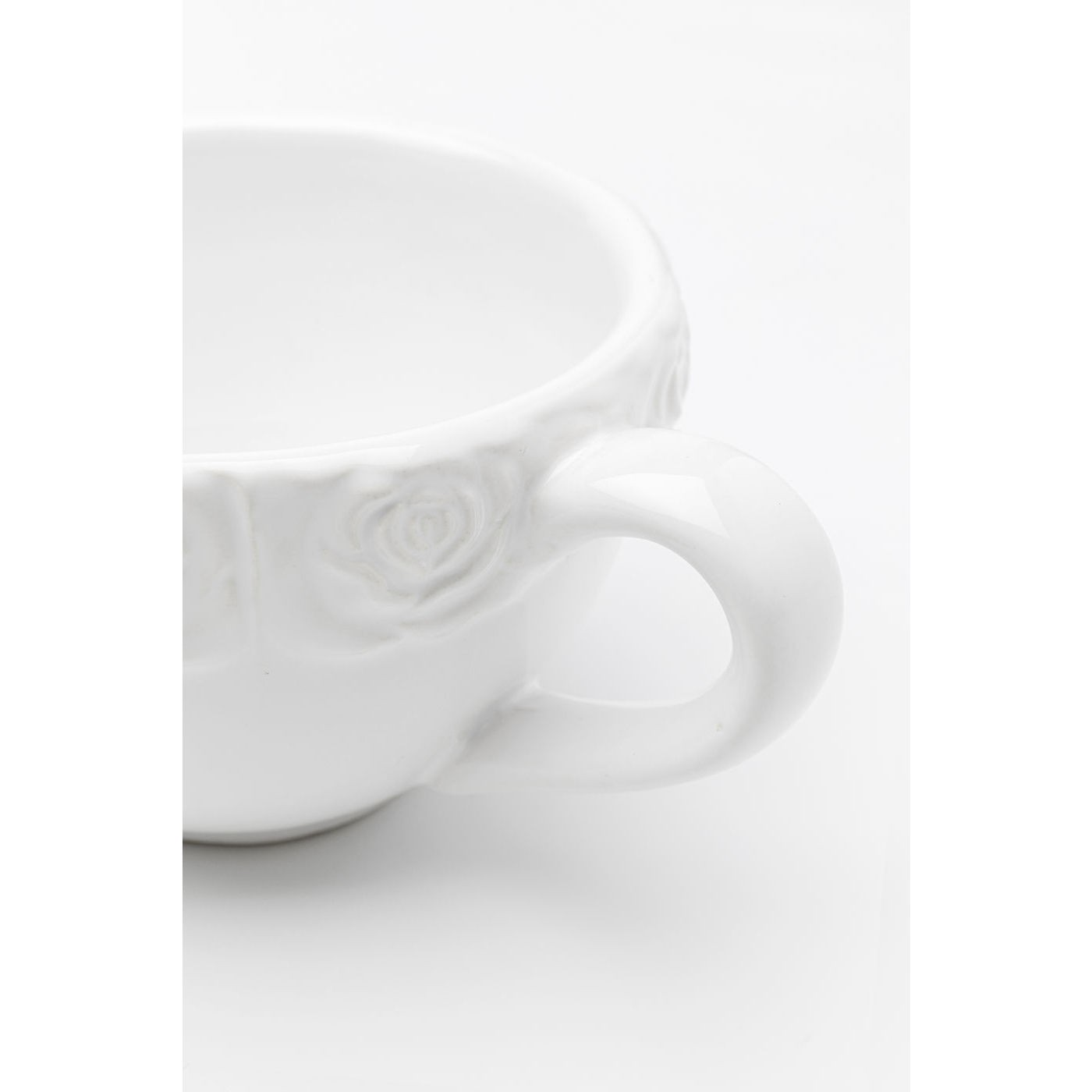 Tasses Roses blanches set de 2 Kare Design