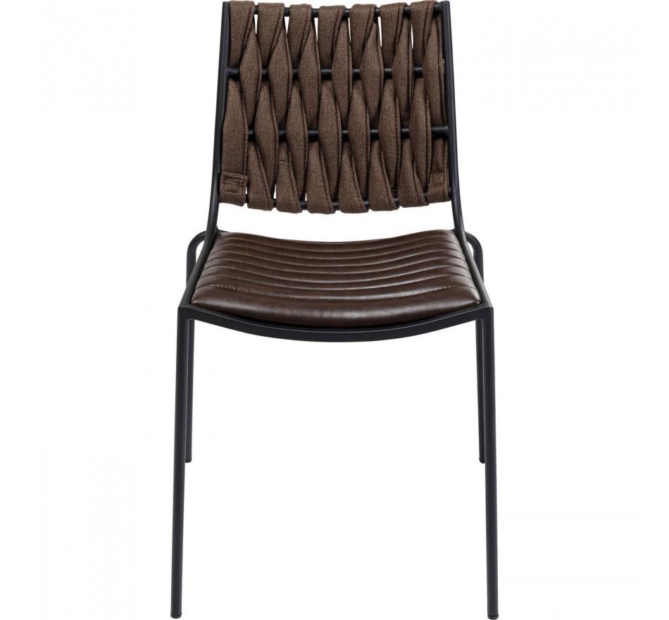 Chaise Two Face marron foncé Kare Design