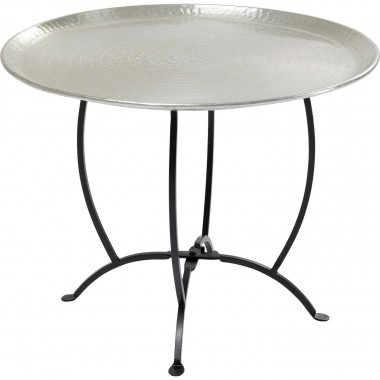 Table d'appoint Oasis 55cm argentée Kare Design