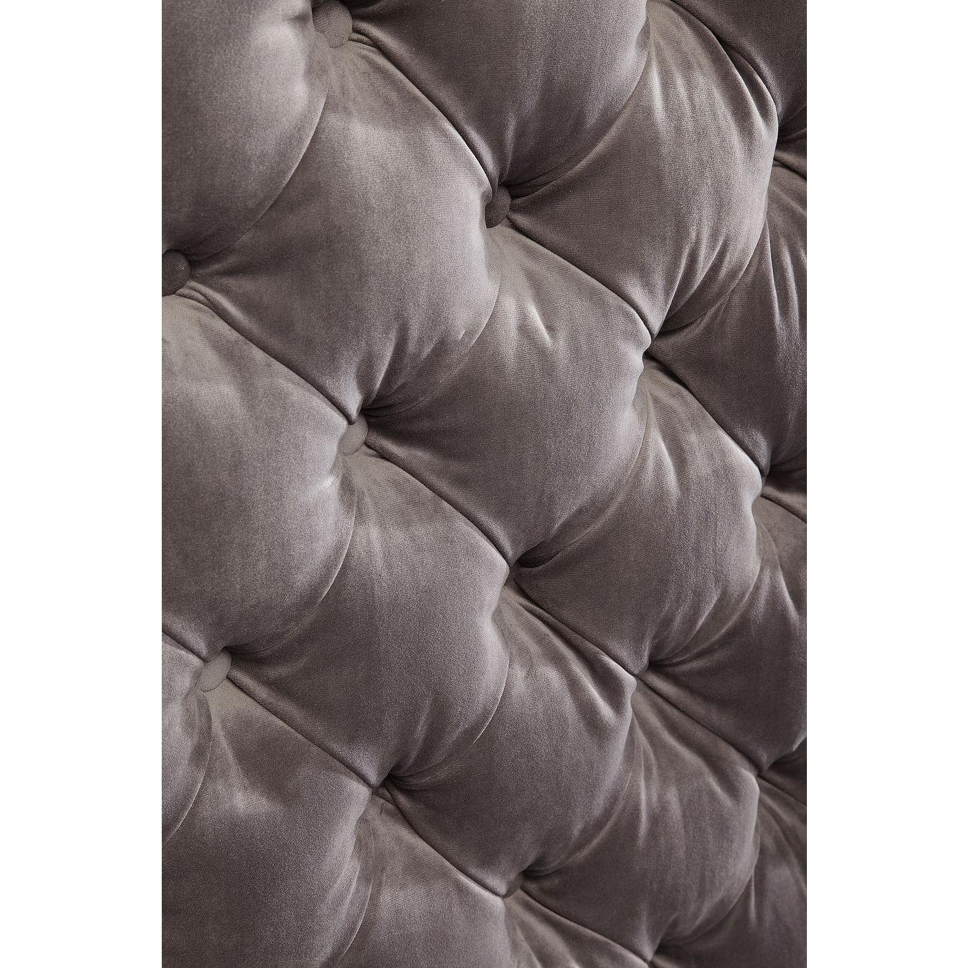 Lit Desire haut 160x200cm gris argenté Kare Design